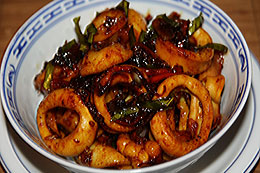 Fried Squid with Oyster Sauce