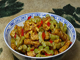 Stir-Fried Bitter Melon | Oseng- 