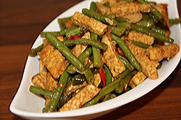 Stir Fried Tempe & Long Bean
