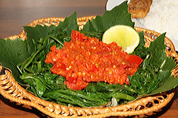 Water Spinach with Spicy Sambal