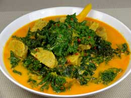 Curly Kale in Rich Coconut Sauce