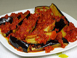 Eggplants with Chili Sauce