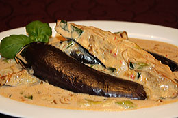 Aubergines with Coconut Milk Sauce