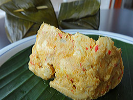 Balinese Steamed Chicken in Banana Leaf | Tum Ayam