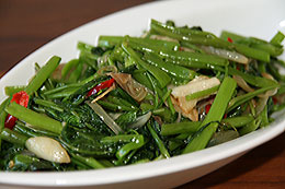 Stir-Fried Water Spinach | Tumis Kangkung