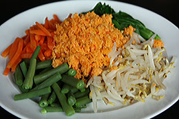 Mixed Vegetables Salad with Coconut Dressing