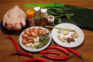 Ayam Betutu Ingredients
