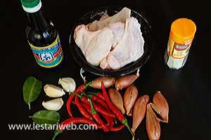 Spicy Fried Chicken with Sweet Soy Sauce Ingredients
