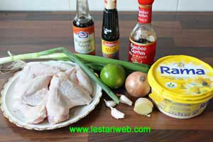 Indonesian Fried Chicken with Butter Sauce Ingredients