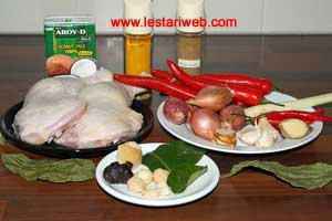 Mixed Spicy Chicken Ingredients