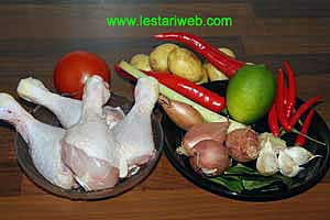 Chicken With Chillies Ingredients