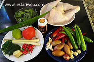 Ayam Woku Belanga Ingredients