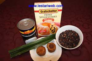 Black Glutinous Rice Porridge Ingredients