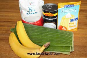 Steamed Banana in Coconut Milk Ingredients