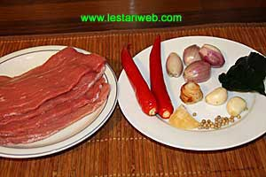 Beef With Sweet Sauce Ingredients