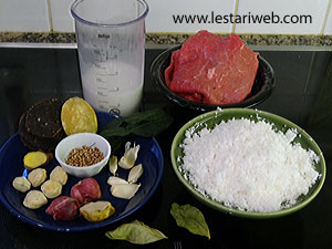 Dendeng Ragi Ingredients