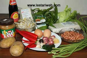 Gado Gado Ingredients