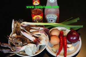 Kepiting Asam Manis Ingredients