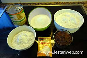 Steamed Layer Cake Ingredients