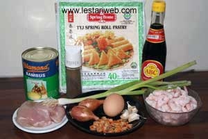 Spring Rolls ala Semarang Ingredients