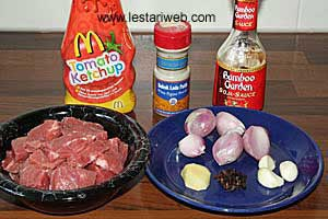Sour-Sweet Beef Dish Ingredients