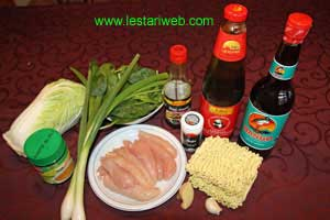 Chicken Noodles Ingredients