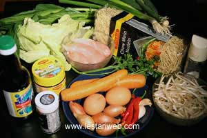 Mie Goreng Ingredients