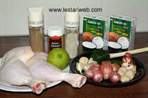 Chicken In Coconut Gravy Ingredients