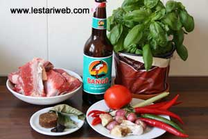 Bone (Spare Ribs) Soup ala Palembang Ingredients
