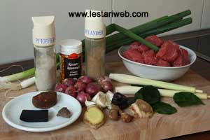 Beef Black Soup Ingredients
