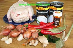 Singgang Ayam Ingredients