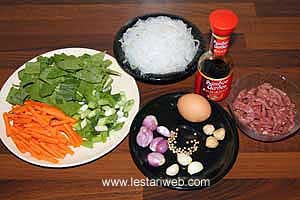 Fried Glass Noodle Ingredients