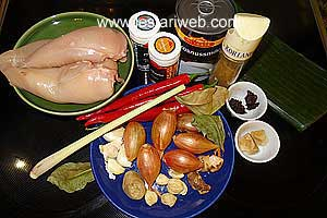 Tum Ayam Ingredients