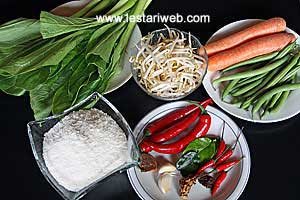 Urap Urap Ingredients
