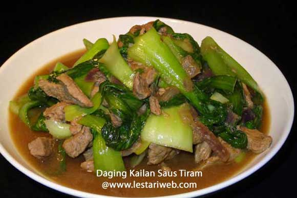 Beef Kailan with Oyster Sauce