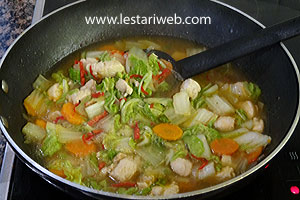 Cooking Chicken & Vegetables in Oyster Sauce