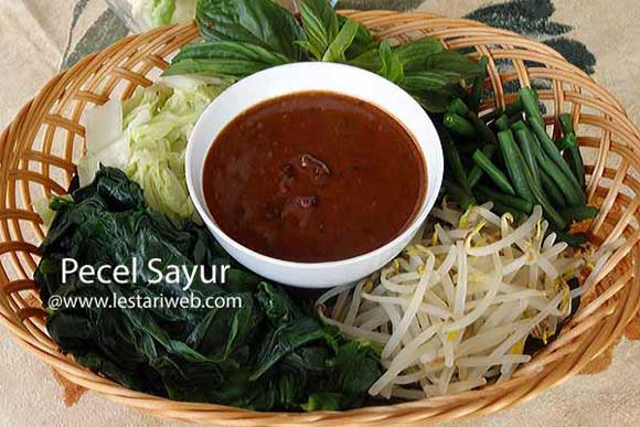 kumpulan resep asli indonesia pecel sayur