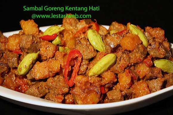 Potato Liver In Rich Coconut Sauce Sambal Goreng Kentang