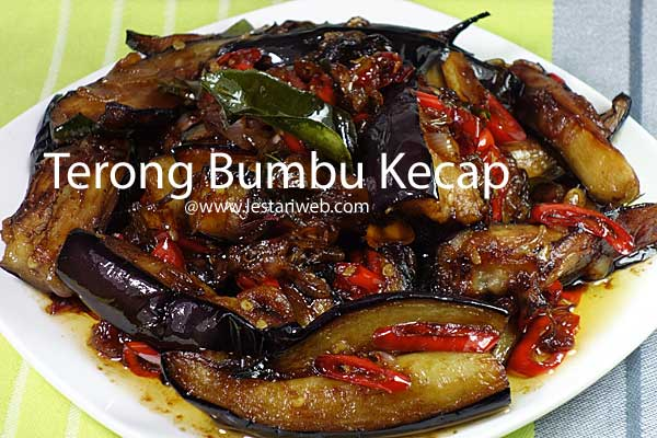 Eggplant/Aubergine in Sweet Soy Sauce