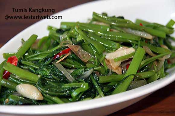 Indonesian Stir Fried Water Spinach